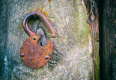 The Old rusty lock Royalty Free Stock Photo
