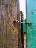 Old rusty lock in a village. Old lock in a village Royalty Free Stock Image