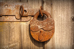 Old rusty lock Stock Images