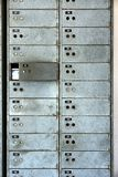 Old rusty lockers on the wall Royalty Free Stock Photo