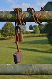 Old Rusty Locks on a gate Royalty Free Stock Images