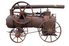 Old rusty locomobile Stock Photo