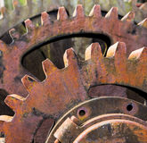 Old rusty machine cogs and gears Stock Images