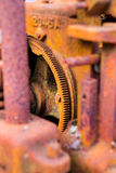 Old rusty machine cogs and gears Royalty Free Stock Photo