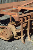 Old and rusty machinery. Old agricultural machinery long past it's working life Stock Photo