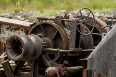 Old rusty machinery on a fishing boat. Elapsed time Stock Image