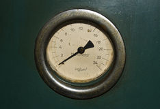 Old rusty manometer Stock Photo