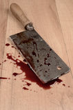 Old rusty meat cleaver Royalty Free Stock Images