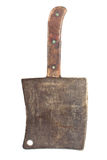 Old rusty meat cleaver Stock Photo