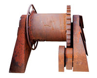 Old rusty mechanism isolated on a white background Royalty Free Stock Photos