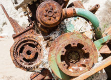Old rusty mechanism. View of Old rusty mechanism Royalty Free Stock Image