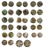 Old rusty medieval european coins Royalty Free Stock Photos