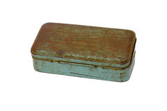 Old rusty metal box isolated on white background. this had clipp Stock Photo