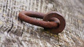Old rusty metal chain Stock Photo