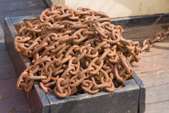 Old rusty metal chains Stock Photos