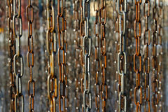 Old rusty metal chains Stock Photography