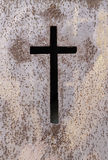 Old rusty metal cross Stock Photography