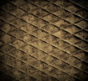 Old rusty metal diamond plate background Stock Photography