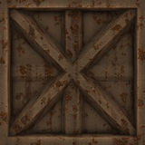 Old rusty metal door. Royalty Free Stock Photos