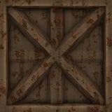 Old rusty metal door. Royalty Free Stock Photos