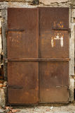 Old rusty metal door Stock Photography