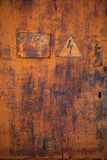 Old rusty metal door Royalty Free Stock Photo