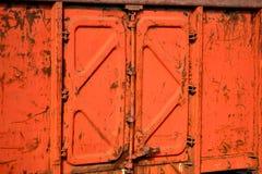 Old rusty metal door texture Royalty Free Stock Photo