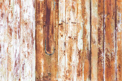 Old rusty metal fence as an abstract background Royalty Free Stock Image