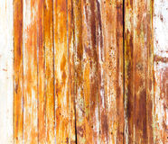 Old rusty metal fence as an abstract background Stock Photo