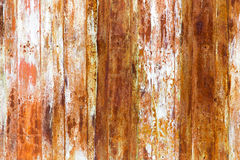 Old rusty metal fence as an abstract background Stock Images
