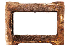 Old rusty metal frame Stock Images