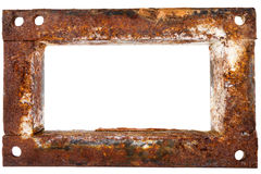 Old rusty metal frame Stock Photography
