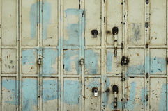 Old Rusty metal gate. With locks Royalty Free Stock Photography