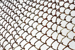 Old rusty metal grid Stock Images