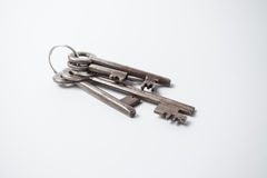 Old, rusty, metal keys Royalty Free Stock Photo