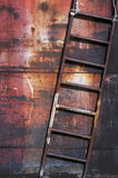 Old rusty metal ladder Stock Images