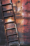 Old rusty metal ladder Stock Photography
