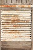 Old rusty metal lattice. The old rusty metal air lattice on a door Stock Photos