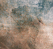 Old rusty metal plate Stock Images