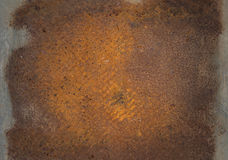 Old rusty metal plate. Stock Image