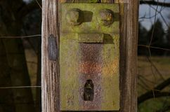 An old and rusty metal plate Royalty Free Stock Images