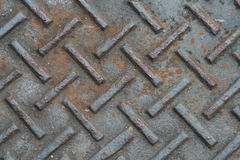 Old rusty metal plate. To prevent slipping Stock Photography
