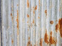 Old rusty metal sheet roof texture Royalty Free Stock Photography