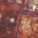 Old rusty metal sheet with weld seam Royalty Free Stock Photo
