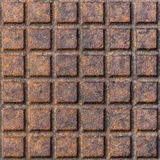 Old rusty metal street sewer drain cover top hatch texture. Stock Images
