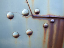 Old rusty metal surface. Grunge abstract industrial background with rust Royalty Free Stock Image