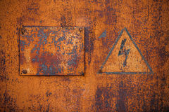 Old rusty metal surface Stock Image