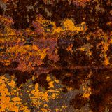 Old rusty metal surface with traces of paint. Element of design. Background and surface royalty free stock images