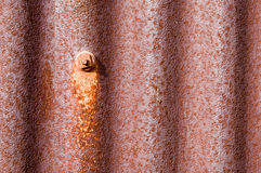Old rusty metal tin shed Royalty Free Stock Photo