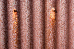Old rusty metal tin shed Stock Image